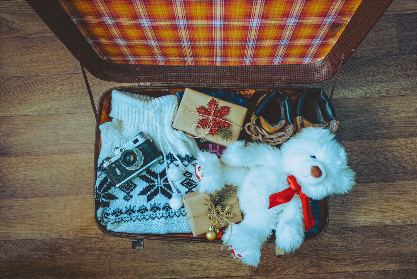 Packing for a Christmas holiday