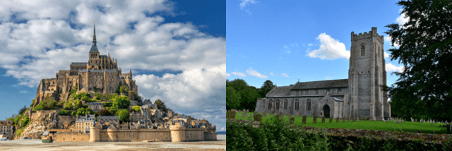 Cornwall v Norfolk churches