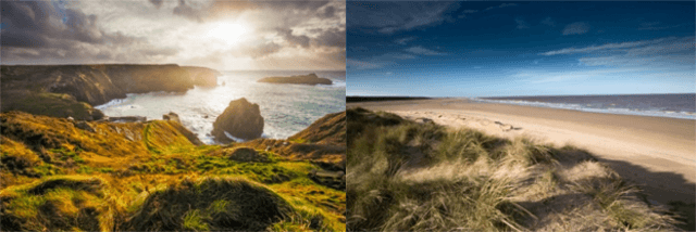Cornwall v Norfolk coast