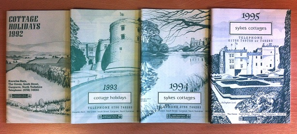 The original Sykes Cottages brochures, featuring Clive's hand drawn illustrations.