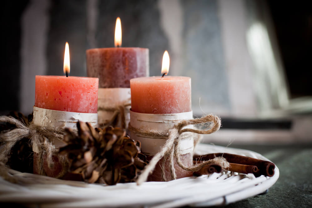 Christmas Candles for your holiday Cottage