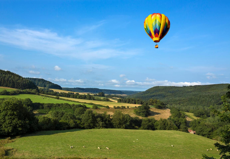 hot air baloon devon