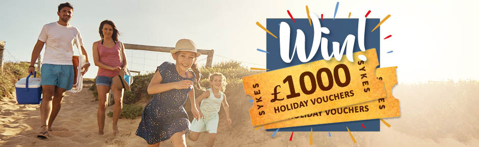 Monthly Prize Draw – August 2017 - win £1000 holiday vouchers