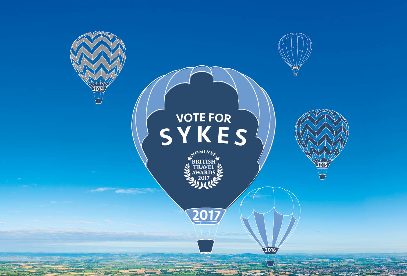 British Travel Awards 2017 - Vote for Sykes Cottages