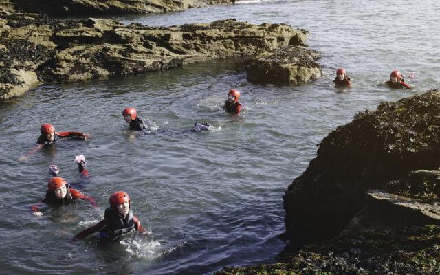 Autumn and winter activities in Cornwall - Coasteering