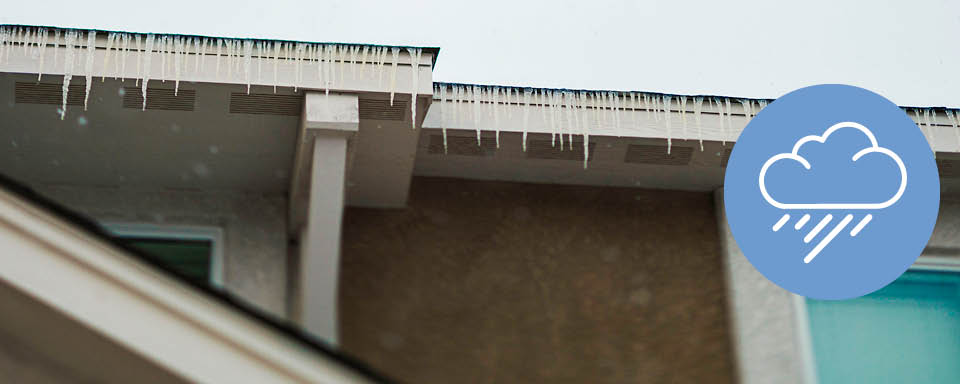 Clear gutters and drains - holiday let winter tips