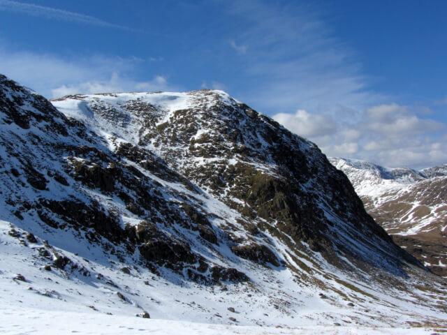 Lakeland fells in the snow