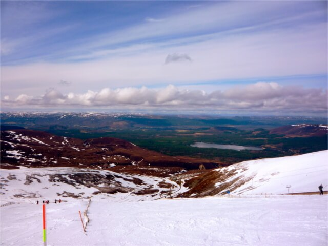 View from a ski slope in the Cairngorms mountain range