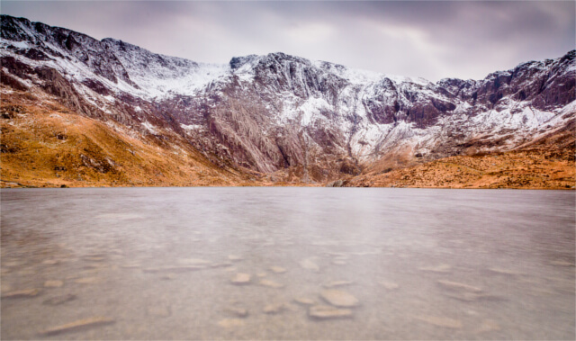 Llyn Idwal and the Glyderau in the Snowdonia National Park
