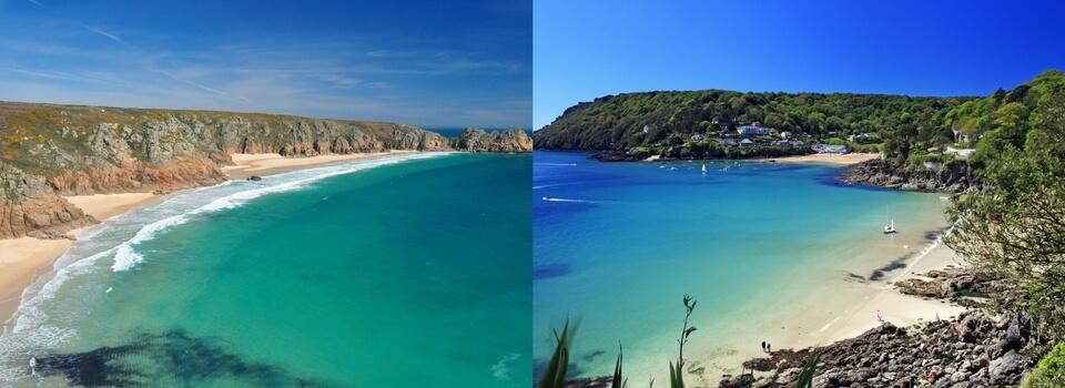 Porthcurno Beach in Cornwall vs Salcombe Beach in Devon