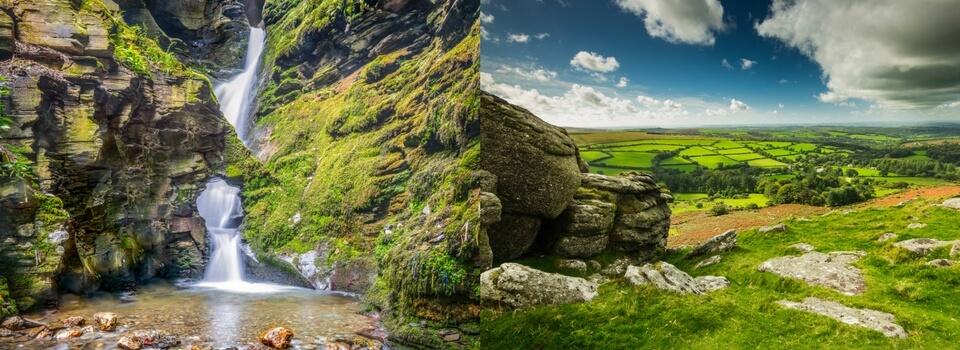 St Nectan's Glen in Cornwall vs Dartmoor National Park in Devon