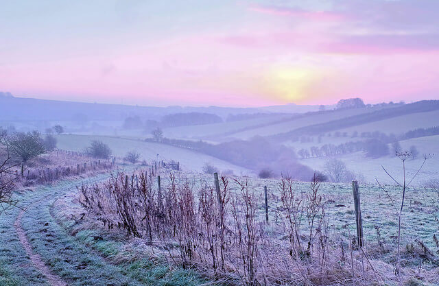 Sunrise in the Cotswolds