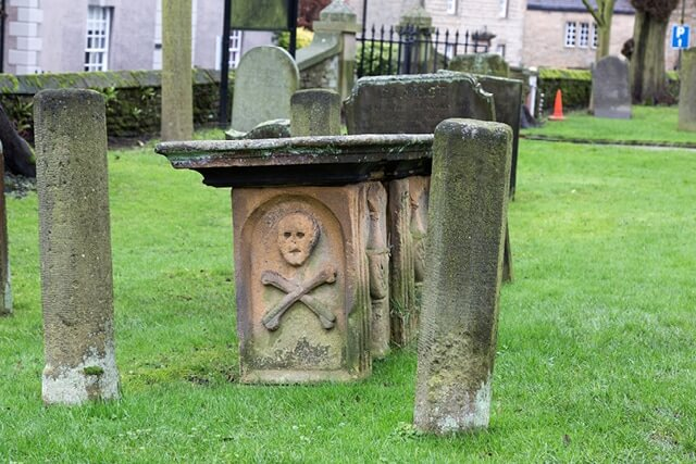 Eyam Plague Village Gravestone