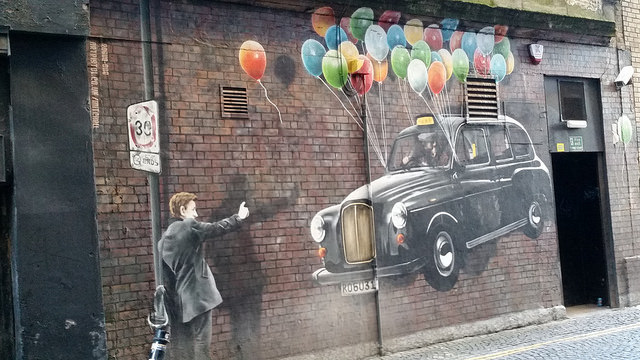 Floating Taxi - Glasgow Mural Trail