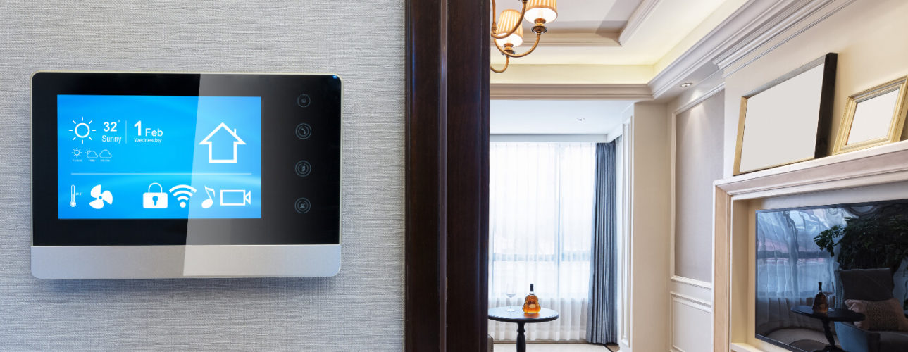 Smart Thermostat in home