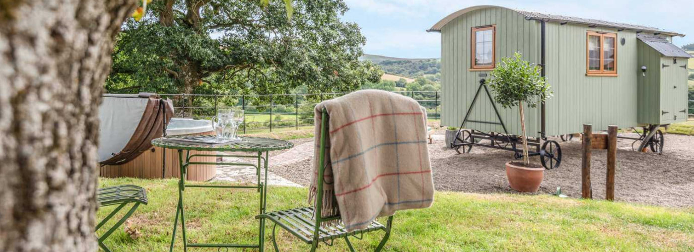 Shepherd Hut for glamping in rural location