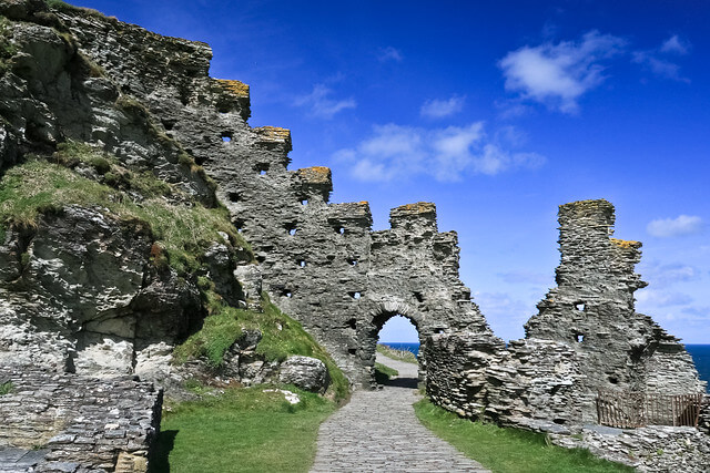 Castle at Tintagel, Cornwall