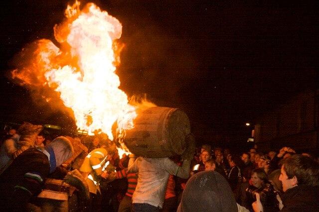 Flaming Tar Barrels at Ottery St Mary