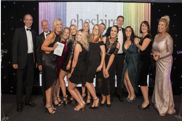 Cheshire Business Awards winners at Chester Racecourse