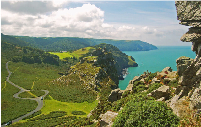 exmoor national park valley of rocks