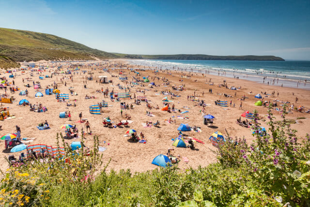 woolacombe beach during a heat wave