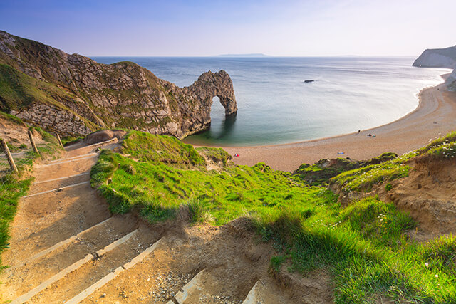 Durdle Door at Lulworth Cove in West Lulworth, Dorset