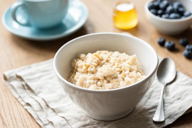 bowl of porridge on table
