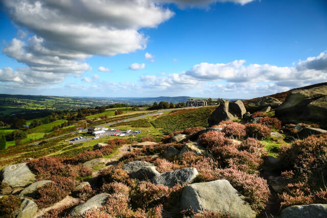 landscape of Ilkley Moor in West Yorkshire