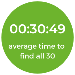00:30:49 average time to find all 30
