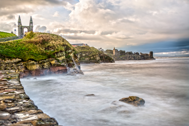 St. Andrews in Scotland coastline