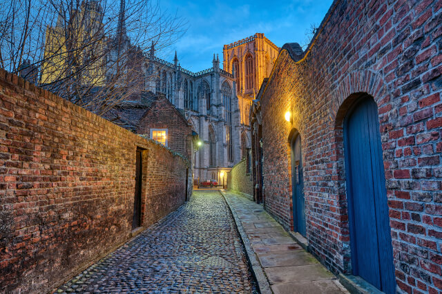 Cobbled street in York