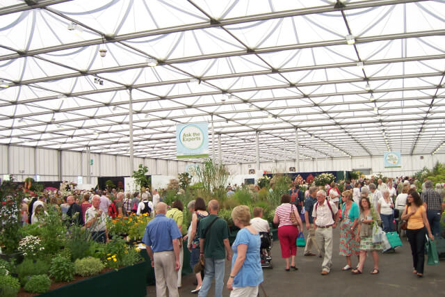 marquee at bbc gardeners world live