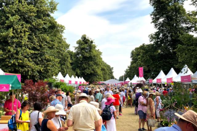 crowd at hampton court flower show