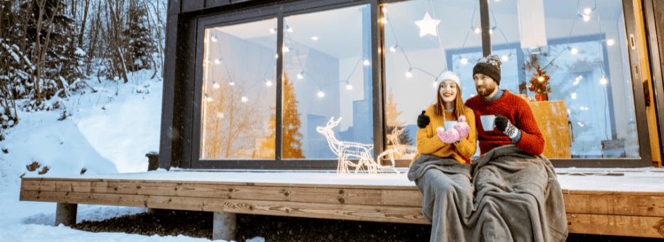 winter season cottage retreat