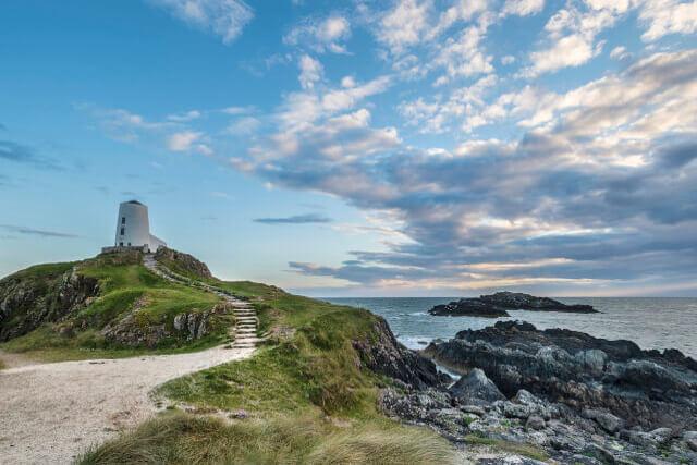 Lighthouse on Llanddwyn Island North Wales
