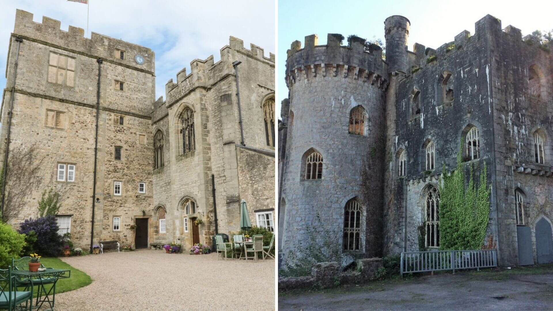Snape Castle and Gwrych Castle