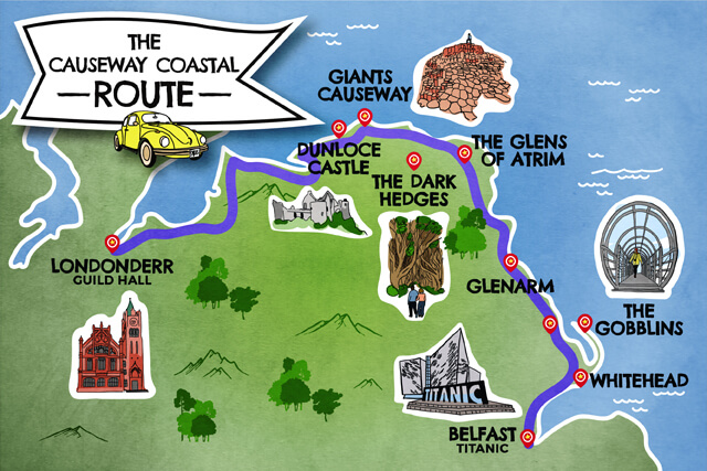 The Causeway coastal map