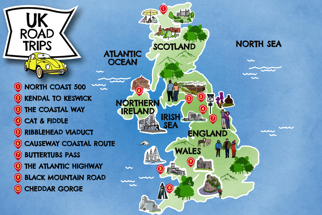 UK Road Trip Map