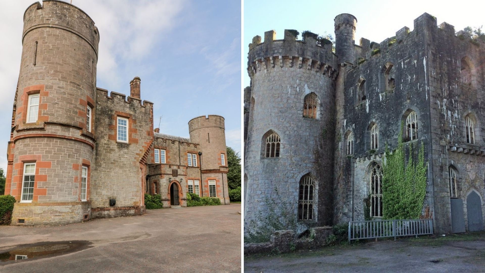 Auchentroig House and Gwrych Castle
