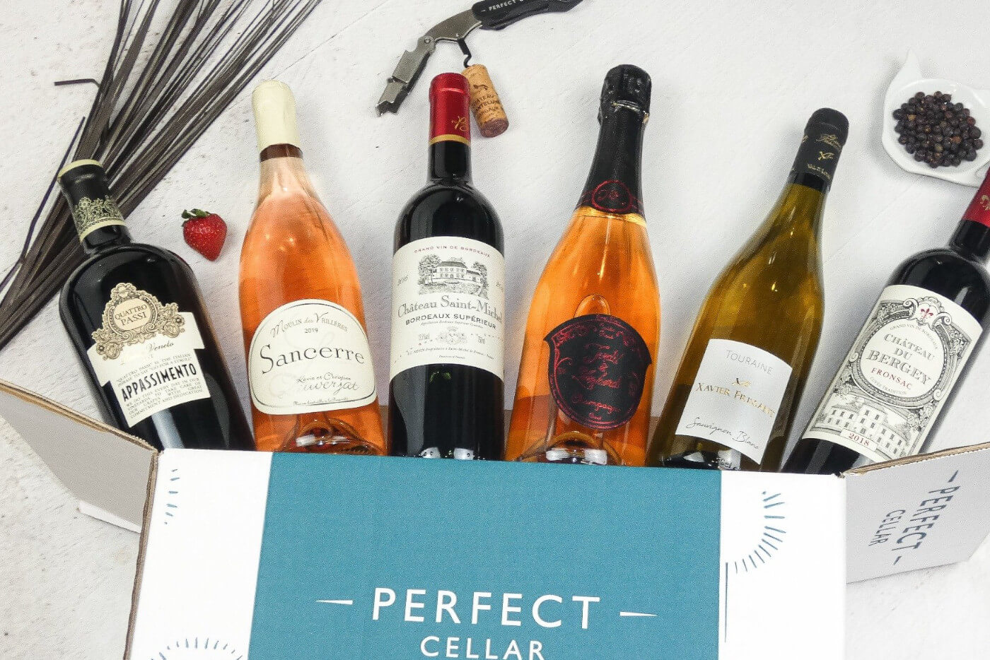 Box of Staycation Wines from Perfect Cellar