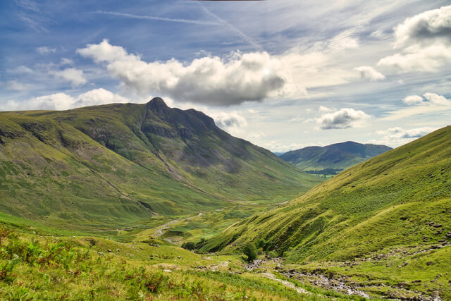 A view down the length of Great Langdale