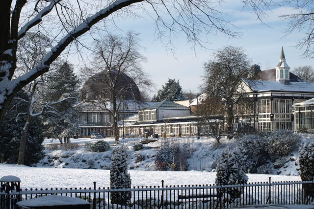 Buxton Park Pavilion in the Snow