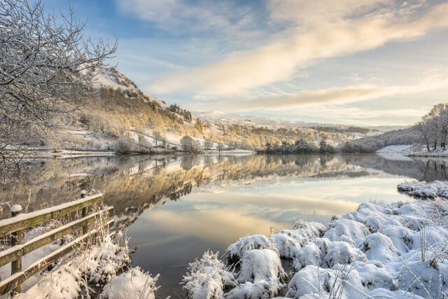 Rydal Water in winter