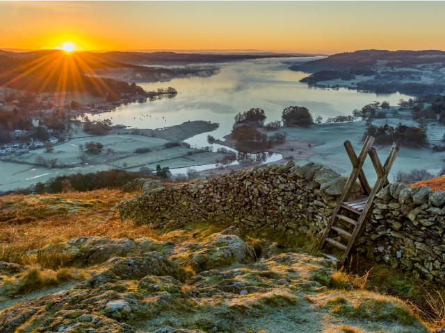 Views of Lake Windermere from the fells