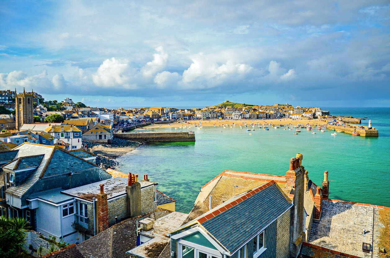 beach st ives cornwall coast