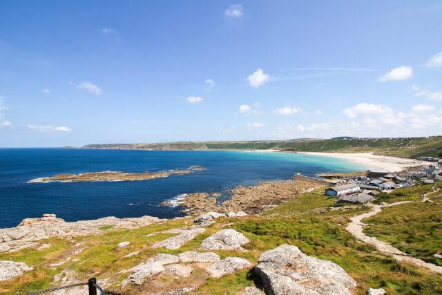 Sennen Cove Beach In Cornwall,