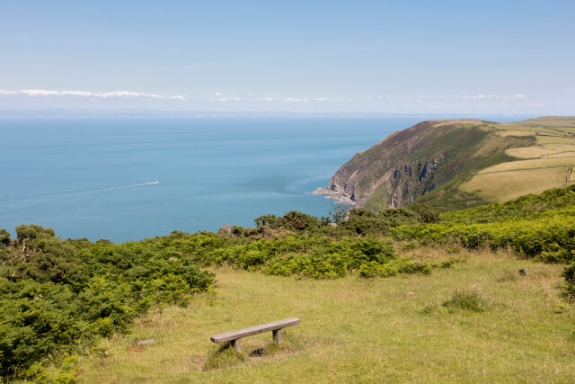 View towards the Bristol Channel from Exmoor National Park