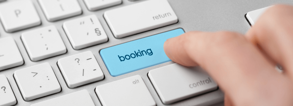 booking a holiday button