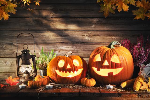 Halloween pumpkin head jack-o-lantern