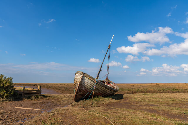Boat on Thornham Beach